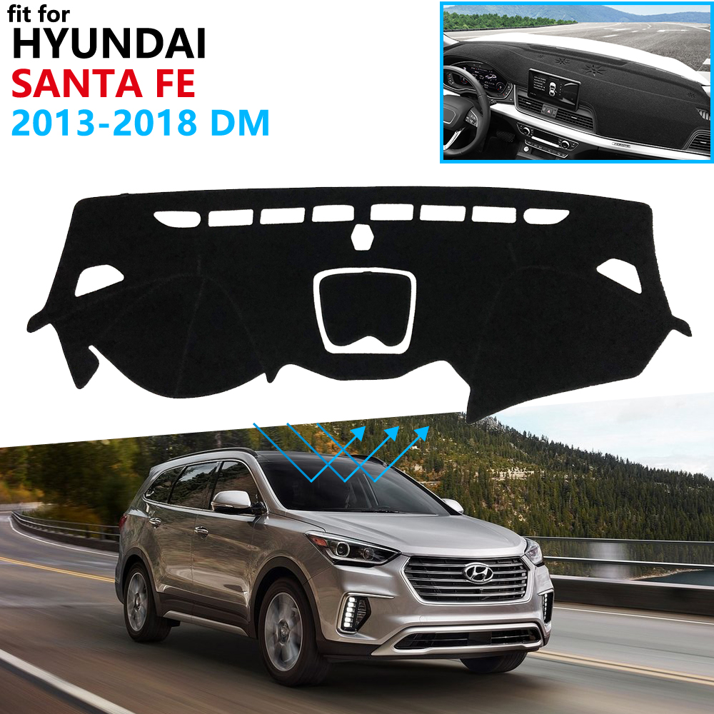 Dashboard Cover Protective Pad for Hyundai Santa Fe 2013 2014 2015 2016 2017 2018 DM IX45 Accessories Dash Board Sunshade Carpet