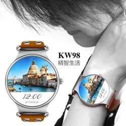 RGTOPONE KW98 3G WIFI GPS Bluetooth 4.0 inteligentny zegarek zegarek sportowy GSM odblokowany zegarek telefon Monitor MTK6580 android zegarek mężczyzn