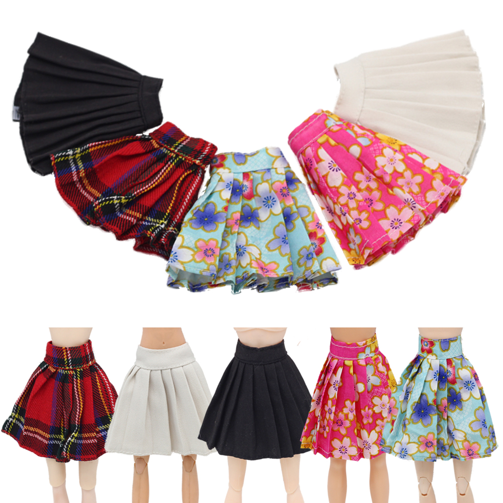 New Arrival Short Skirt <font><b>Clothes</b></font> for Barbies Doll Denim Shorts Dress for <font><b>1/6</b></font> <font><b>Bjd</b></font> Dolls Dress Accessories Toys Gift Doll <font><b>Clothes</b></font> image