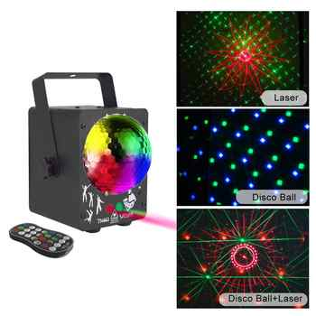 newest 2019 DJ laser RGB stage light projector LED effect lamp disco Christmas holiday bar lighting party indoor lamp remote - DISCOUNT ITEM  36% OFF All Category