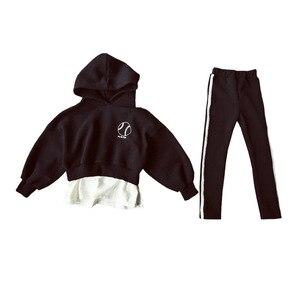 Image 2 - חדשה באיכות גבוהה אביב סתיו בני נוער בנות ספורט סט נקבה ילדים מקרית סוודר חליפת ילדי בגדי בני נוער אימוניות CA578