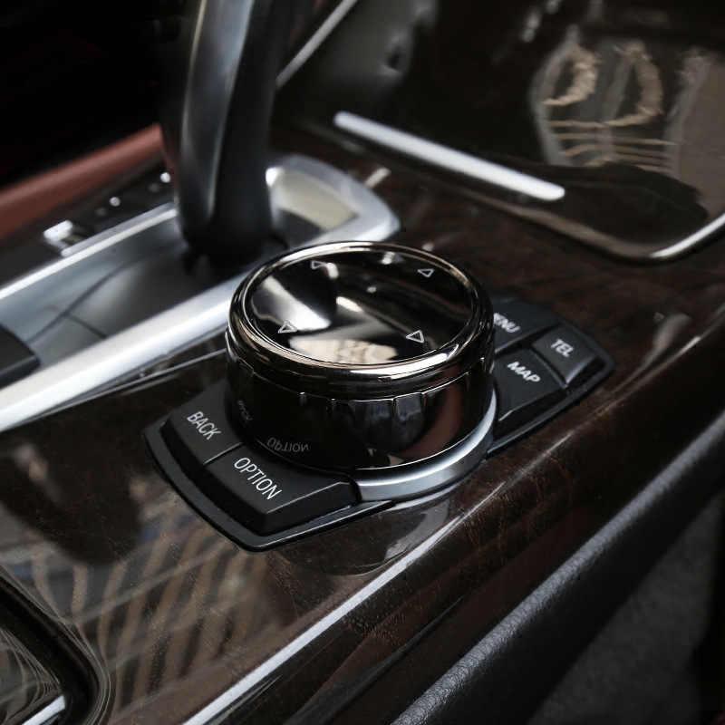 Für iDrive Auto Multimedia-Taste Abdeckung Trim Knopf Aufkleber für BMW F10 F20 F30 3/5 Serie X3 X4 Für NBT controller auto Zubehör