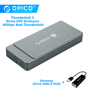 ORICO Thunderbolt 3 M.2 NVME SSD корпус алюминиевый 40 Гбит/с SSD Чехол Поддержка ТБ с Thunderbolt 3 C к C кабель для Mac Windows