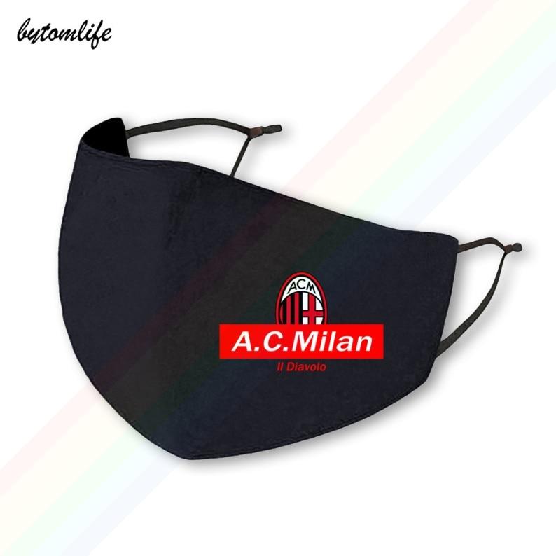 Milan19 20 команда серии a, маска, Классическая моющаяся дышащая многоразовая маска для рта из полиэстера с принтом