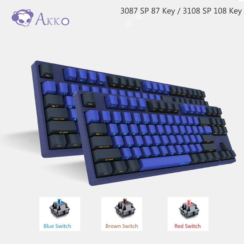 Akko 3087/3108 SP Horizon Cakrawala Gaming Mekanis Keyboard 87/108 Kunci Cherry MX Switch 85% PBT TYPE-C USB Sisi Kreatif Huruf