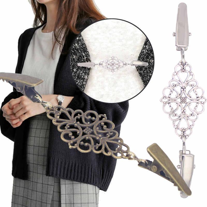 女性スカーフブラウスシャツショールセーターカーディガン接続バックルセータークリップショールクリップスカーフセータークリップジュエリー