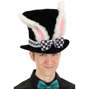 Cosplay kapelusz śliczny wielkanoc królik cylinder alicja kraina czarów Bunny melonik mężczyźni kobiety kostium na Halloween śmieszne Topper karnawałowe uszy tanie i dobre opinie DOME Unisex Zwierząt Dla dorosłych Faux futra CNJH-HFL-CMR-AES5002 Black