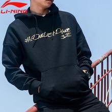 Li Ning Men Wade One LAST DANCE Hoodie หลวมผ้าฝ้าย 65% 35% โพลีเอสเตอร์ซับ Li Ning Comfort เสื้อกีฬา hoodies AWDP497 MWW1596
