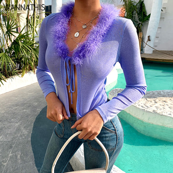 Purple Feathers Front Lace Up 2