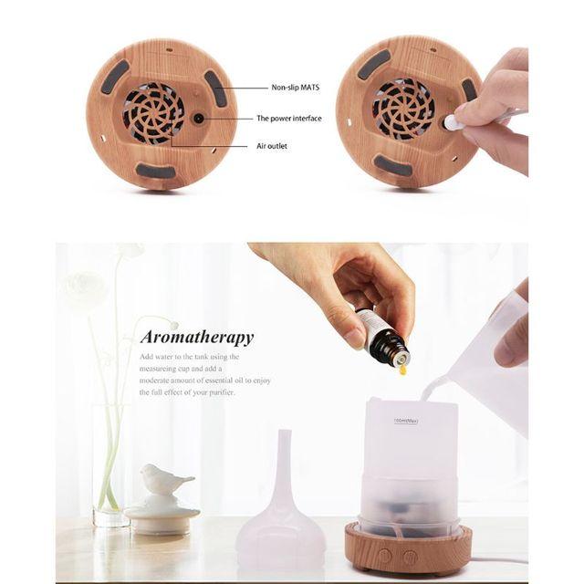 3D Firework Night Light Ultrasonic Essential Oil Diffuser AU US UK EU Aroma Aromatherapy Fine Fog Humidifier Anti Slip Base Room