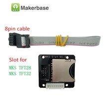 MKS слот/Slot2 адаптер SD card breakout reader sd Модуль дополнительный слот расширитель разъем для 3D принтера МКС TFT 35 32 28 дисплей