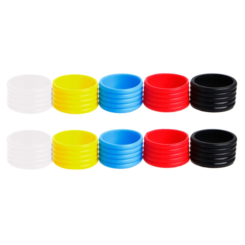 10 Pcs Tennis Racket Handle'S Silicone Ring Tennis Racket Grip Use Various Colors
