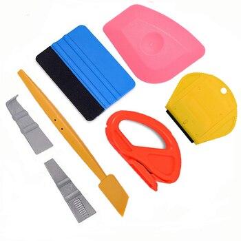 EHDIS Carbon Fiber Vinyl Film Magnet Squeegee Set Car Wrapping Tools Foil Wrap Cutter Auto Sticker decals Applicator