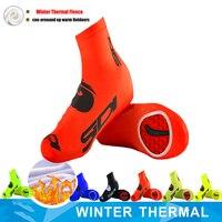 SIDIING 2020 Fleece Warm Cycling Lock Shoe Covers Reflective Bicycle Overshoes Winter Road Bike Shoe Cover Protector|  -