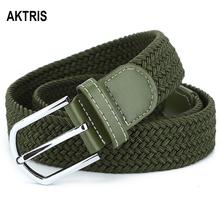 AKTRIS Ladys All-match Elastic Knitted Pants Belts Alloy Pins Manufacturers Accessories 3.2cm Width Unisex Casual Belt FCO026