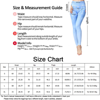 Women Fitness Yoga Pants Slim High waist Sport Leggings Gym Elastic Romantic Printed Long Tights for Running Tummy Control 6