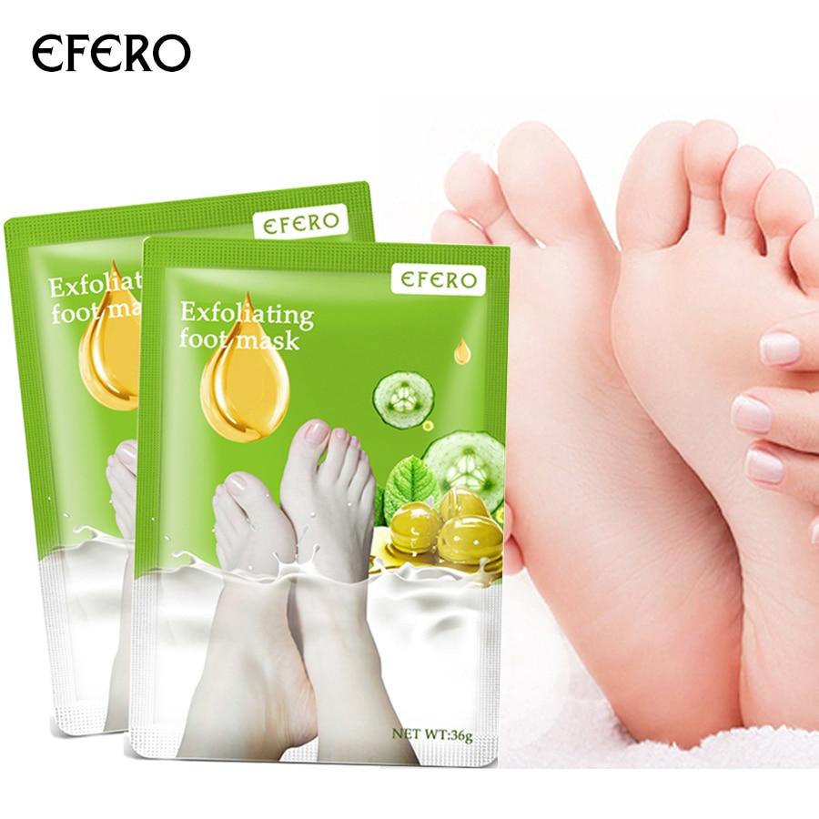 1pair Efero Foot Peeling Mask Pedicure Socks Foot Mask For Heels Exfoliating Feet Mask Exfoliation Foot Care Peel Socks For Leg