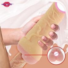 Masturbador de culo falso para hombres, vagina con pene realista, manga más grande, masturbador para mujeres, consolador Real para parejas, Juguetes sexuales Gay