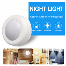 guirlande lumineuse Dimmable éclairage LED batterie Puck lumières avec télécommande capteur tactile sous les lumières de l'armoire pour la cuisine armoire placard lampe