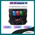 COHO для Mitsubishi Outlander 2006-2008 Android 10,0 Восьмиядерный 4 + 64G Автомобильный мультимедийный плеер стерео приемник радио