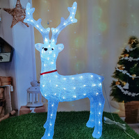 LED Reindeer Light Holiday Lighting Christmas Night Lamp Lantern Decoration Novelty Gift for Kids Party Home Ornaments Crafts