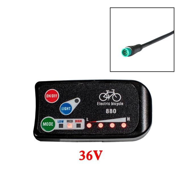 36V 48V Electric Bicycle Ebike KT LED LED880 Control Panel Display 160cm Line