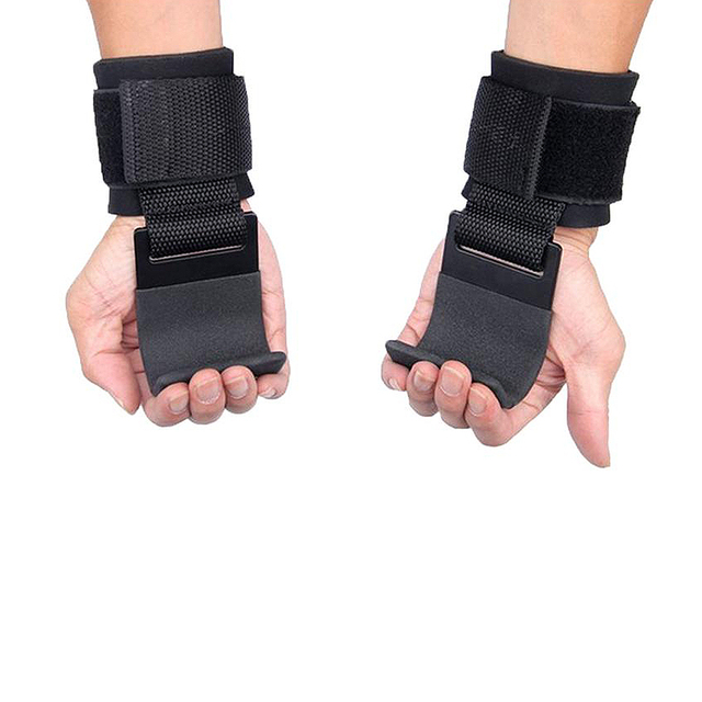 Pull-Ups 2 PCS Pull-Ups Weight Lifting Hooks Hand-Bar Wrist Straps Gym Fitness Hook weight Strap Power Lifting Gloves For Weight Training. - FitnessKim