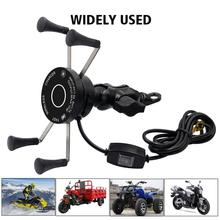 Motorcycle Phone Holder QC3.0 Wireless Fast Charging Cycling Mount For Smartphones