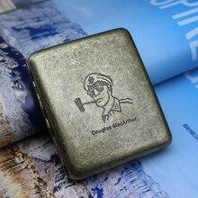 Винтажный металлический чехол для сигареты, классический дизайн, чехол для сигареты для мужчин 20 шт., подарочные аксессуары для сигарет
