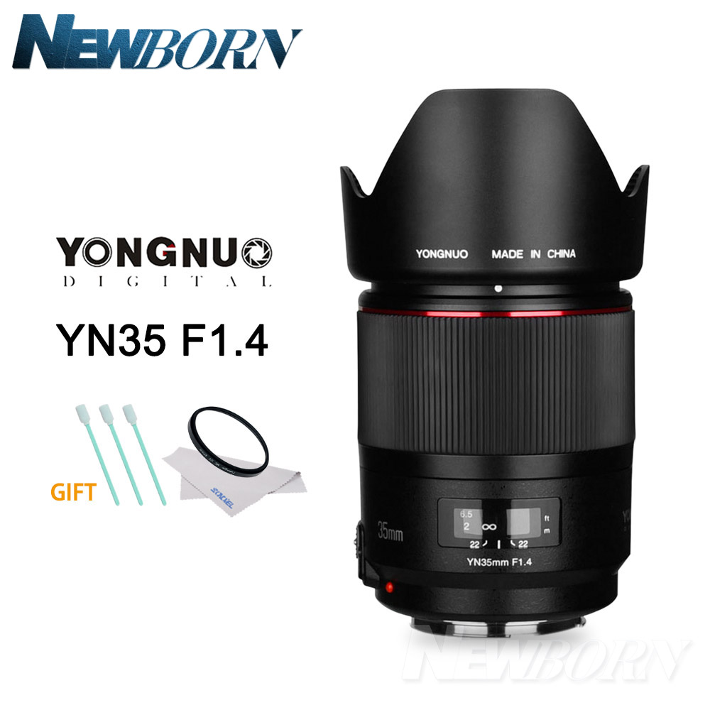 YONGNUO YN35mm F1.4 Wide-Angle Prime <font><b>Lens</b></font> Full Frame Lense for <font><b>Canon</b></font> DSLR Camera 70D <font><b>80D</b></font> 5D3 MARK II 5D2 5D4 800D 200D 7D2 6D 5D image