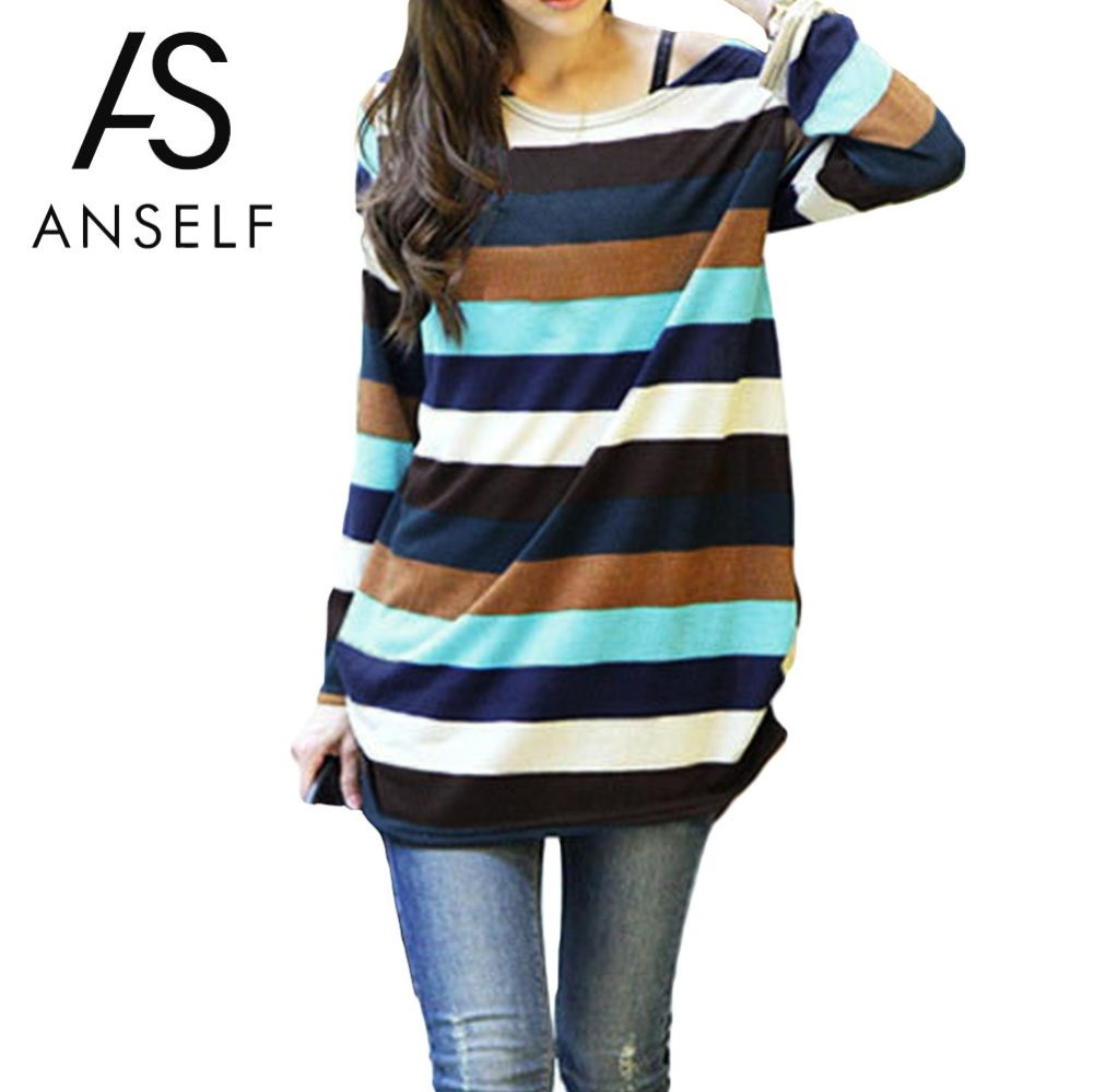 2019 Autumn Korean Striped Sweaters Plus Size 3XL 4XL 5XL Women Sweaters And Pullovers Oversized Knitted Tops Female Long Jumper