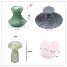 Rose Quartz Skin-Tools Jade-Roller Mushroom Slimming-Massager Healing Facial-Neck Lift