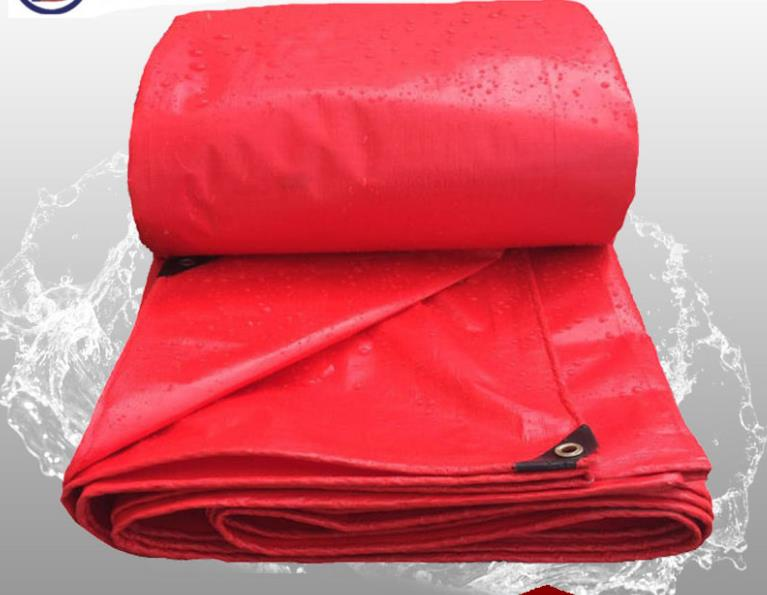 Customize Multiple Sizes Red Outdoor Waterproof Canvas Cover, Rain Cloth Tarp, Truck Tarpaulin. Awning,cart Cover Dust-proof.