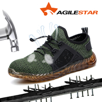 Outdoor Men Shoes Drop Shipping Steel Toe Man Construction Safety Shoes Steel Toe Sneakers Anti Slip Work Boots Protect Feet