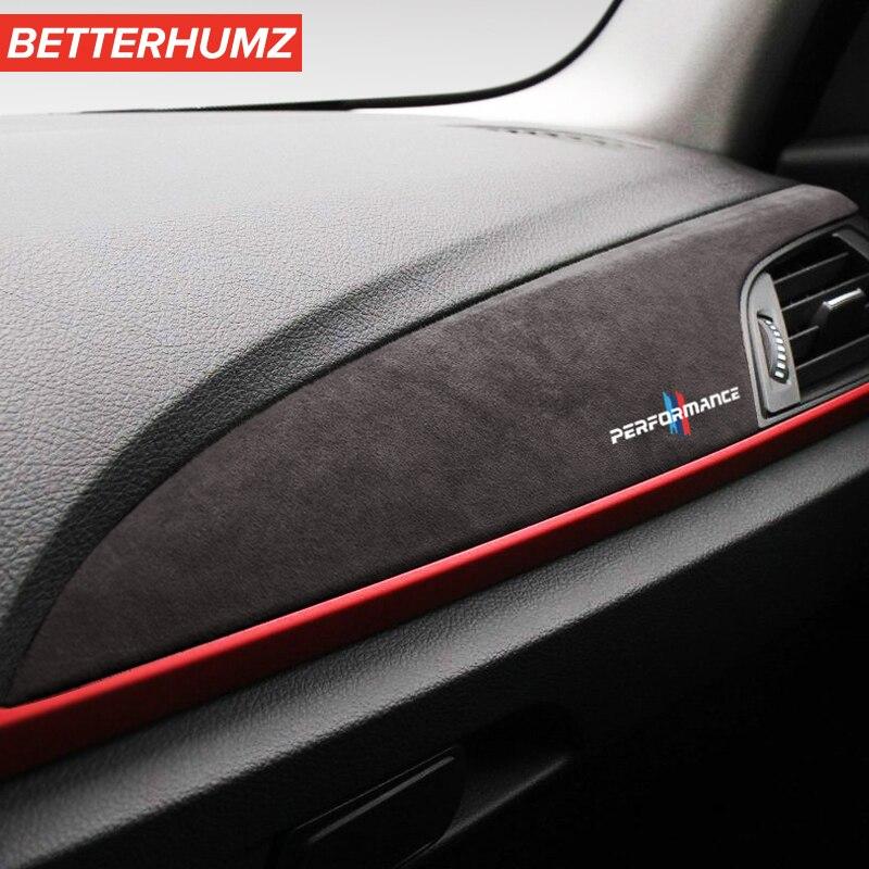 Betterhumz Алькантара для BMW F20 F21 F22 F23 1 серия 2 серия M характеристики Автомобильная приборная панель наклейки внутренние молдинги аксессуары