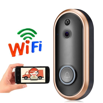 Video Doorbell Wireless Home WiFi Security Camera, 720P HD Audio Doorbell,  with PIR Motion Detection Night Vision Two-Way Talk