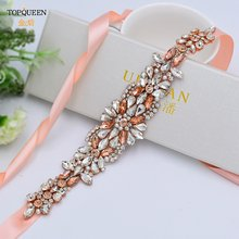 Topqueen s423 роскошное розовое золото свадебное платье пояс
