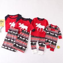 Conjunto de pijama familiar de Navidad para adultos, niños y niñas, ropa de dormir para madre e hija, envío directo
