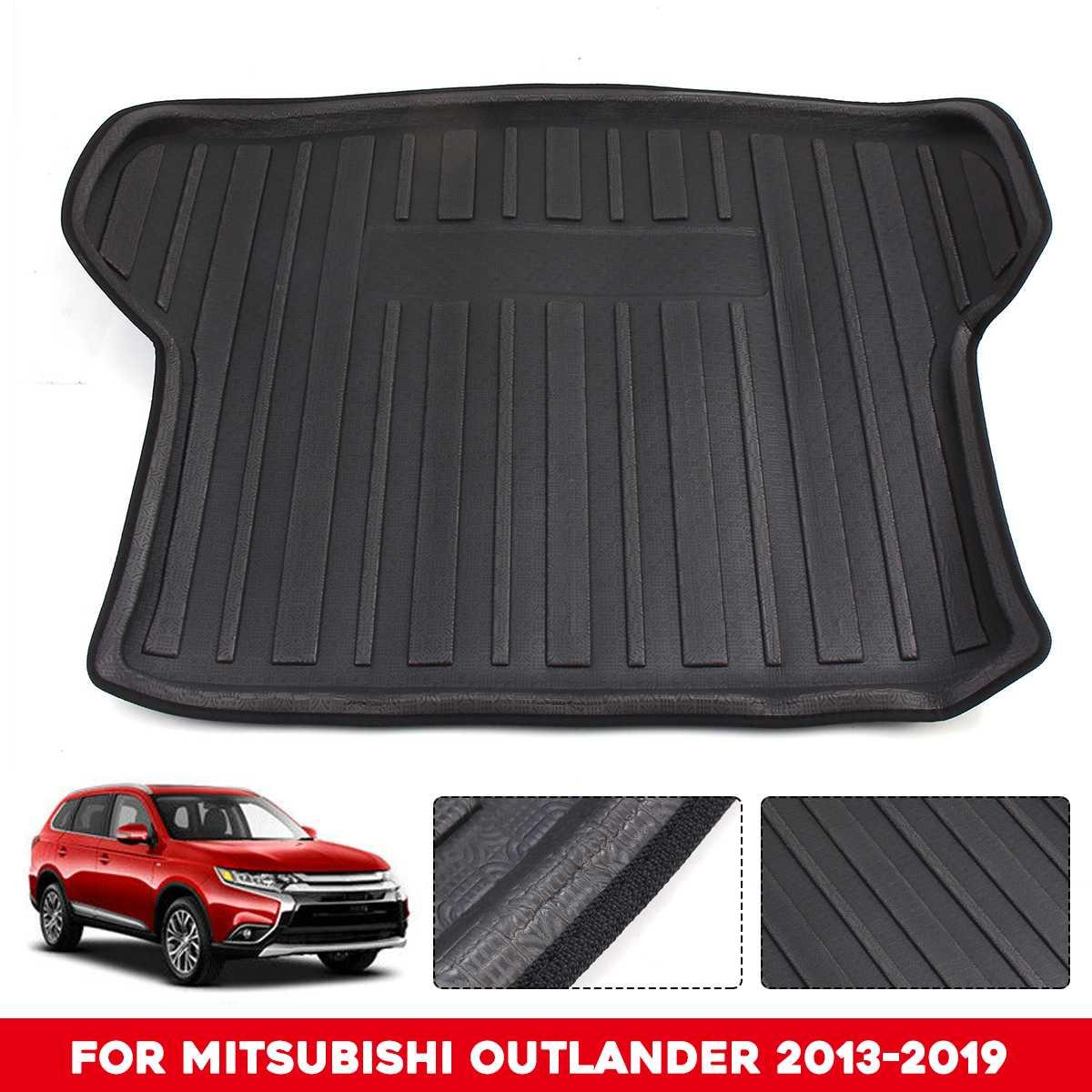 Audew Rear Trunk Cargo Floor Mat For Mitsubishi Outlander 2013-2019 Waterproof Anti-skid Shock-proof Buffer Performance