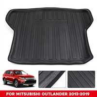 Tapis de plancher de cargaison de coffre arrière d'audew pour Mitsubishi Outlander 2013-2019 représentation imperméable de tampon antichoc antidérapante