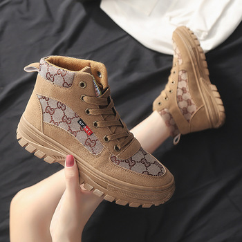 Women Ankle Boots Platform Boots Short Motorcycle Botas Warm Winter Shoes Thick Bottom Casual Shoes White Footwear Botas Mujer women martin boots ankle boots winter warm shoes female motorcycle ankle fashion boots botas feminina women botas mujer