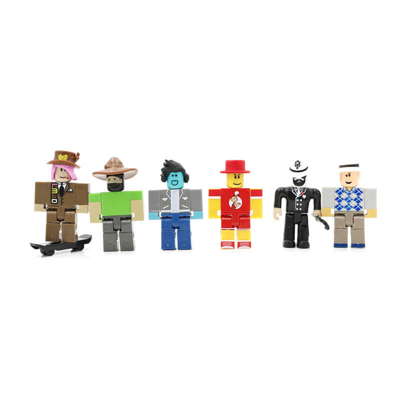 24 Stks/set Jongen Gast Super Fan Brighteyes Cindering Action Figure Speelgoed Diy Gemonteerd Abs Blokken Virtuele Wereld Game Model
