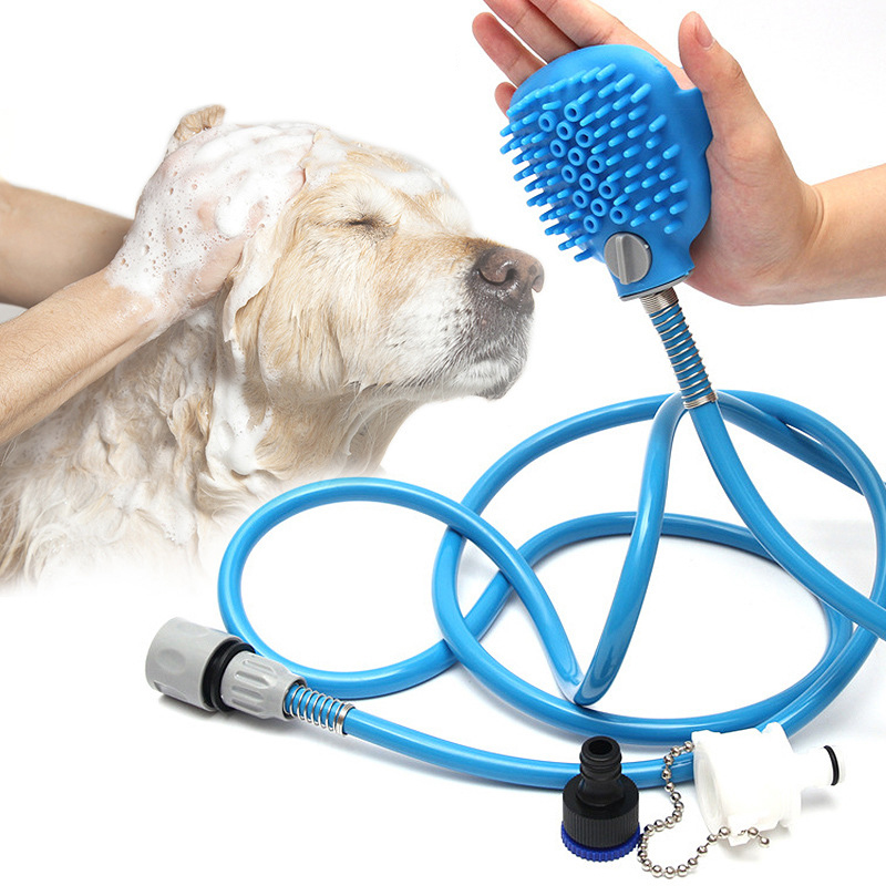 Pet Dog Cat Bathing Sprayer Shower Nozzle Cleaning Supplies For Animal Pet Products Massage Brush Dog Accessories