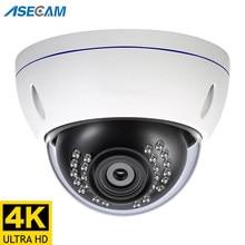 8mp 4k camera de segurança ip poe ao ar livre h.265 onvif metal indoor dome cctv visão noturna 4mp câmera de vigilância