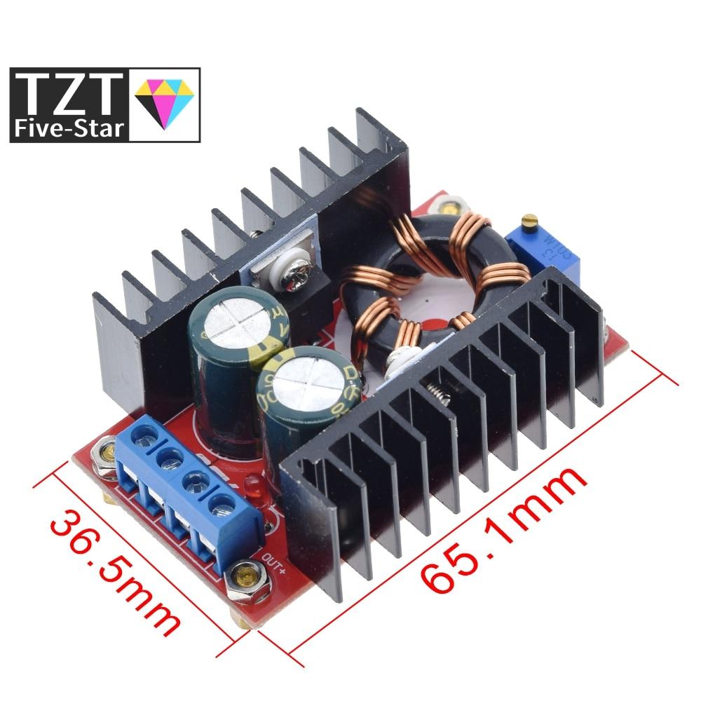 Повышающий преобразователь с 10 32 В до 12 35 В, модуль зарядного устройства с повышающим напряжением, 1 шт., 150 Вт Интегральные схемы      АлиЭкспресс