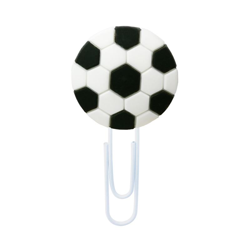 1pcs Football Bookmarks For Books Soccer Book Mark Sports Stars Paper Clips For School Teacher Office Supply Kids Gift