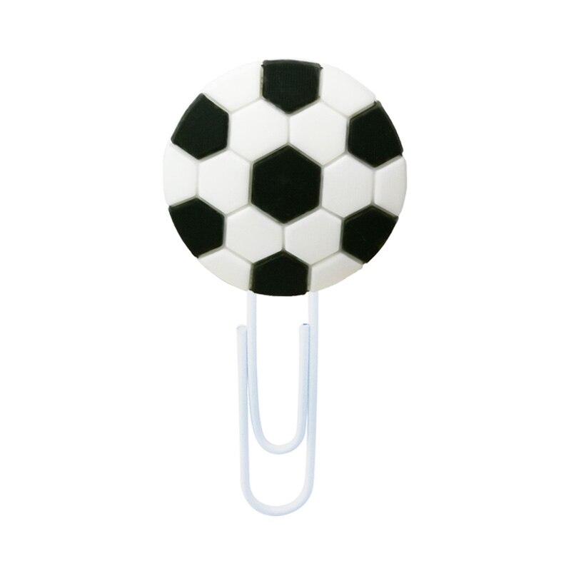 8pcs Football Bookmarks For Kids Sports Stars Book Mark For Fans Soccer Paper Clips For School Teacher Office Supply Kids Gift