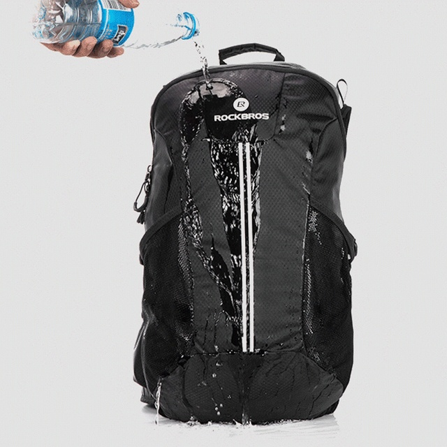 Rockbros ciclismo mochila bicicleta à prova de chuva sacos de desporto acampamento ao ar livre viajar caminhadas sacos respirável alta capacidade 4