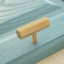 Матовый латунный tbar шкаф кухонный ящик ручки шестигранный