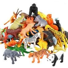 53 pçs/set mini animal mundo zoológico modelo de ação personagem brinquedo dos desenhos animados simulação animal bonito plástico coleção brinquedo das crianças